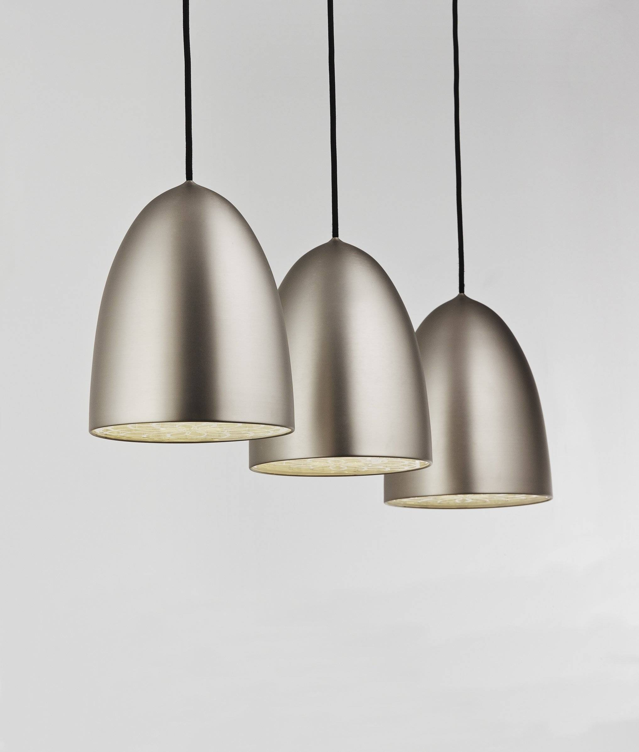 Triple Classic Bullet Bar Pendant within 3 Lights Pendant Fitter (Image 14 of 15)