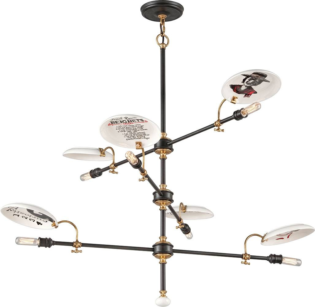 Troy F4696 Dinner Date Hand Worked Wrought Iron Chandelier Lamp with regard to Union Lighting Pendants (Image 14 of 15)