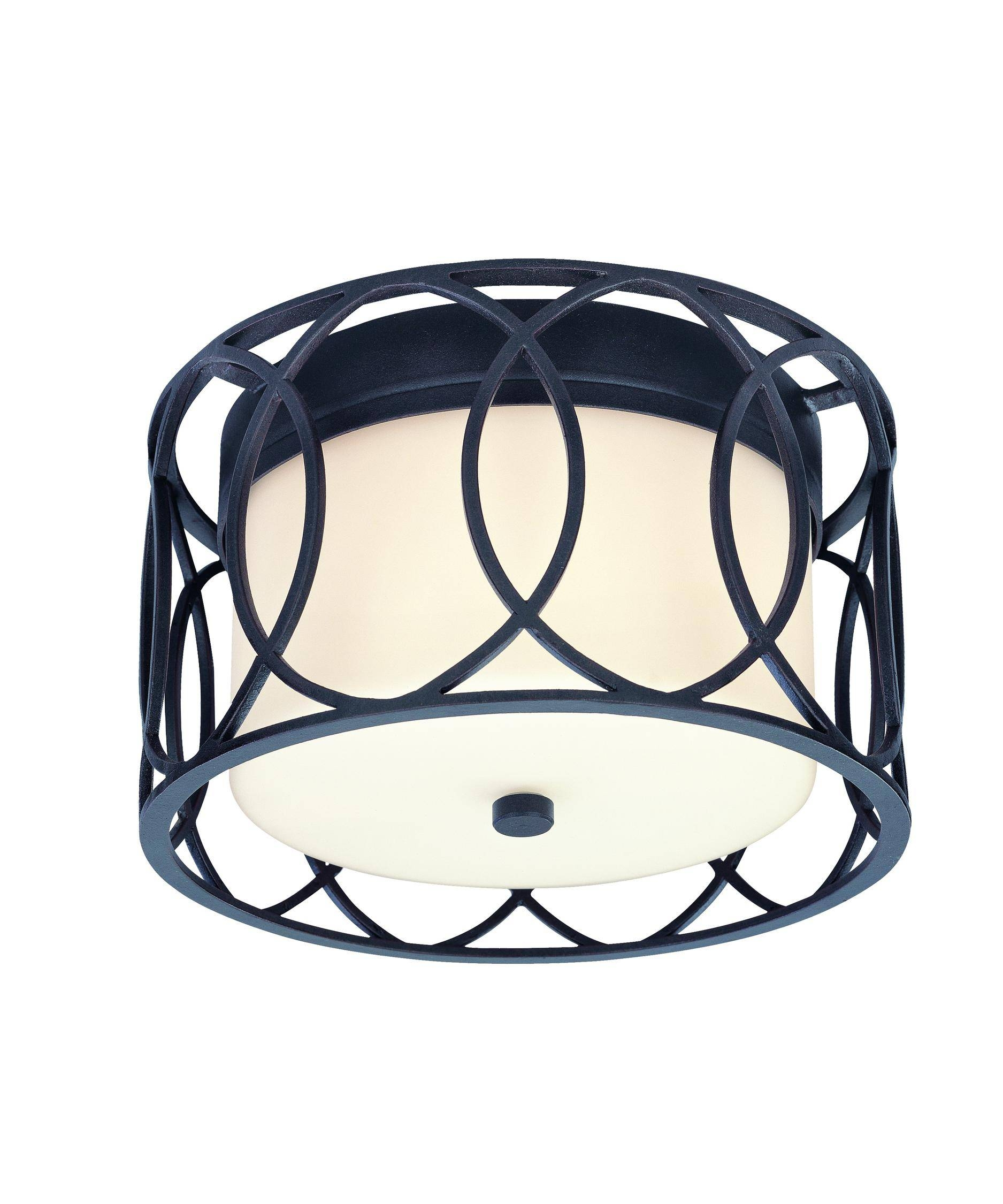 Troy Lighting C1280 Sausalito 12 Inch Wide Flush Mount | Capitol Pertaining To Sausalito Troy Lighting (View 3 of 15)
