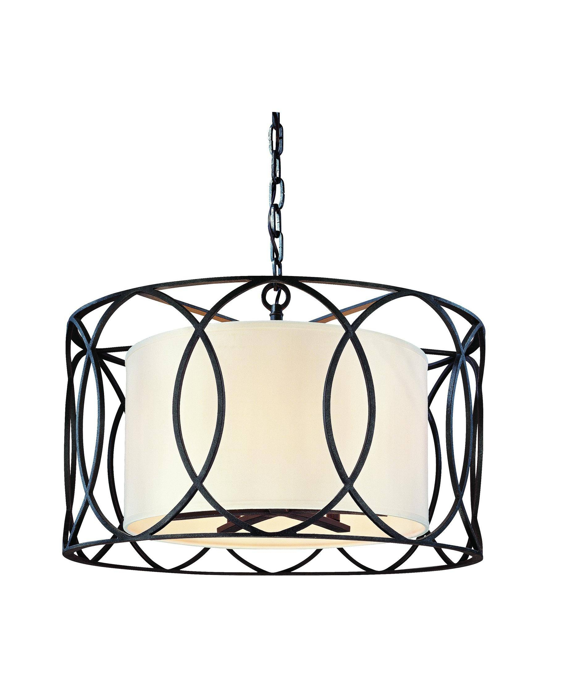 Troy Lighting F1285 Sausalito 25 Inch Wide 5 Light Large Pendant With Regard To Sausalito Troy Lighting (View 7 of 15)