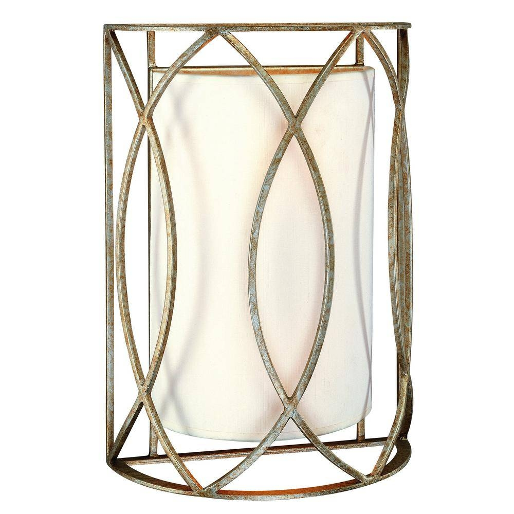 Troy Lighting Sausalito 2 Light Silver Gold Wall Sconce B1289Sg With Sausalito Troy Lighting (View 10 of 15)