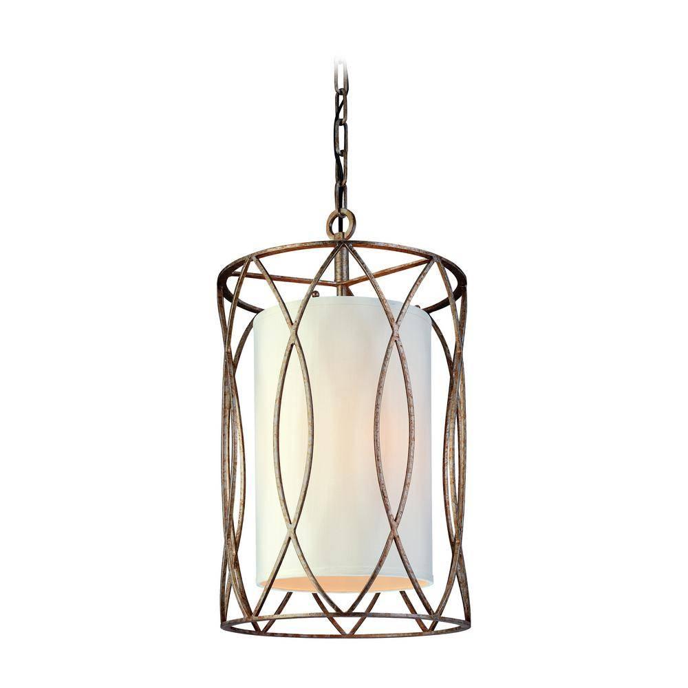 Troy Lighting Sausalito 3-Light Silver Gold Pendant-F1287Sg - The inside Sausalito Pendant Lights (Image 11 of 15)