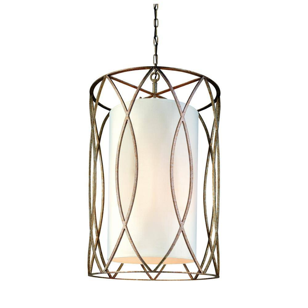 Troy Lighting Sausalito 8 Light Silver Gold Pendant F1288sg – The With Regard To Troy Sausalito Pendants (View 6 of 15)