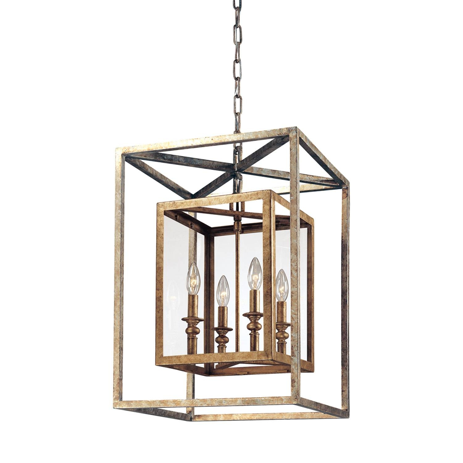 Troy Morgan Four Light Lantern Pendant On Sale Regarding Lantern Style Pendant Lighting (View 8 of 15)