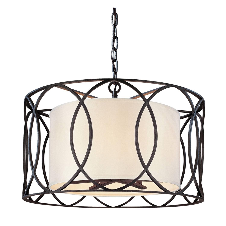 Troy Sausalito Five Light Drum Pendant On Sale regarding Sausalito Pendant Lights (Image 14 of 15)