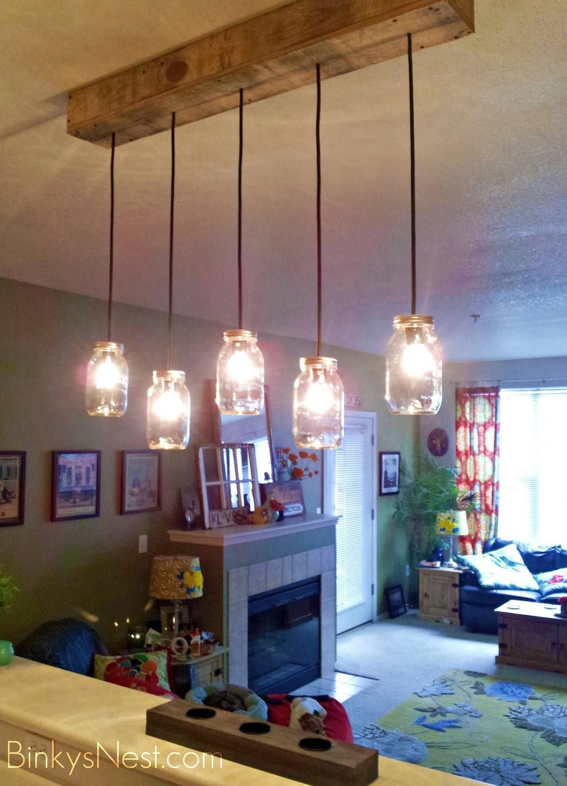 Twenty8Divine: Mason Jar & Rustic Pallet Light Fixture Diy Intended For Mason Jar Pendant Lights For Sale (View 7 of 15)