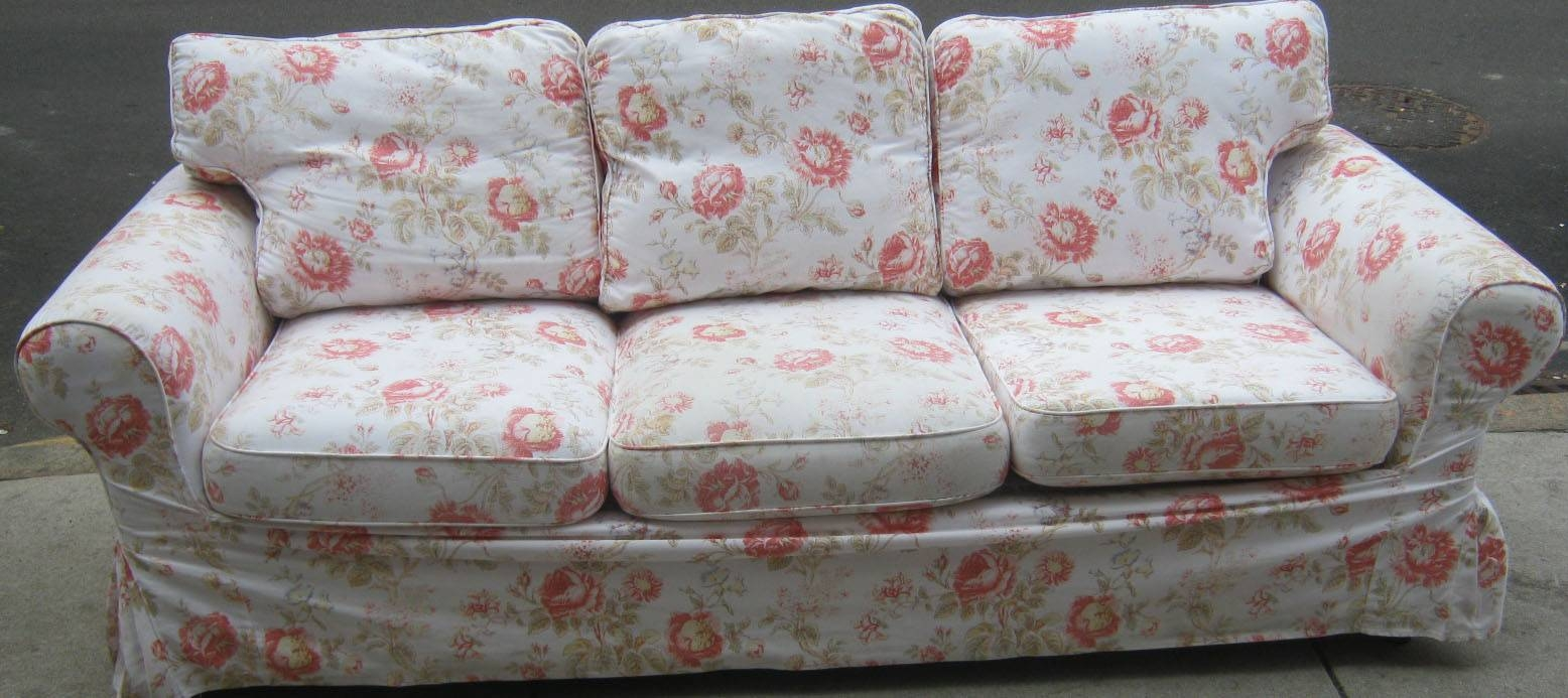 Uhuru Furniture & Collectibles: Floral Sofa And Loveseat With throughout Floral Sofa Slipcovers (Image 15 of 15)