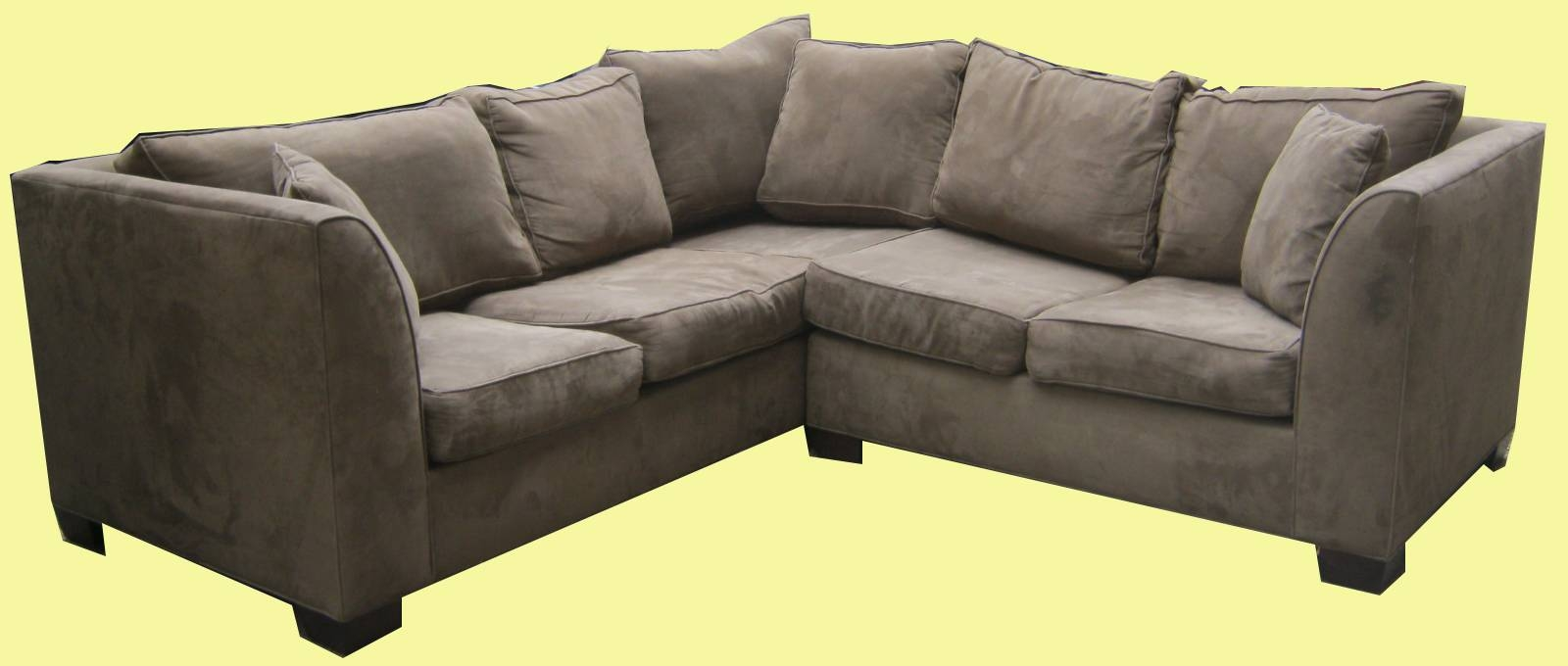 Uhuru Furniture & Collectibles: Olive Green 2 Pc Sectional Sofa Sold For Olive Green Sectional Sofas (View 9 of 15)
