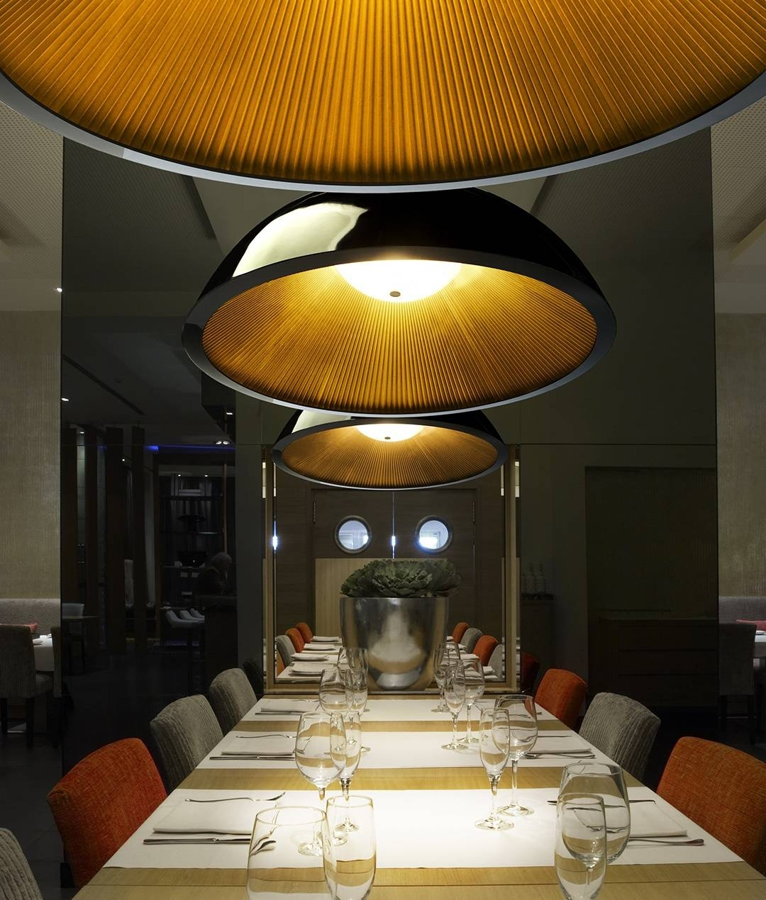 Umbrella Pendantgrok. Large Dome Light Pendant With Pleated regarding Large Dome Pendant Lights (Image 15 of 15)