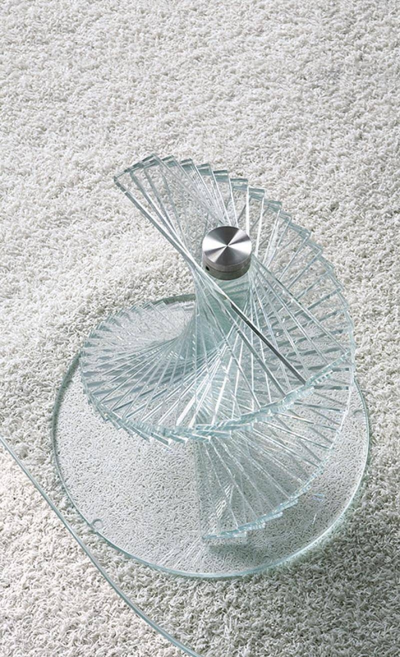 Unico Italia Contemporary Rigiro Oval Glass Coffee Table pertaining to Spiral Glass Coffee Table (Image 15 of 15)