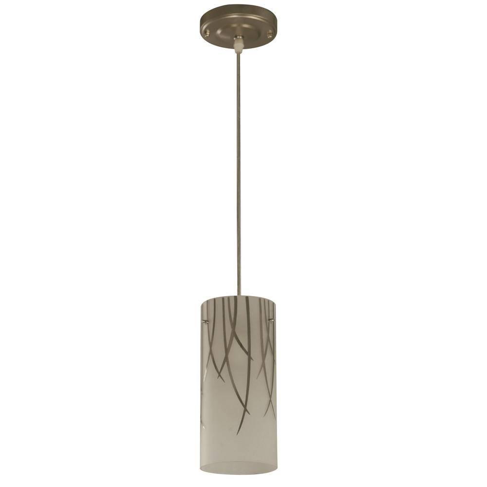 Upc 886316091006 - 1-Light Brushed Nickel Mini Pendant With Bamboo for Hampton Bay Mini Pendant Lights (Image 15 of 15)