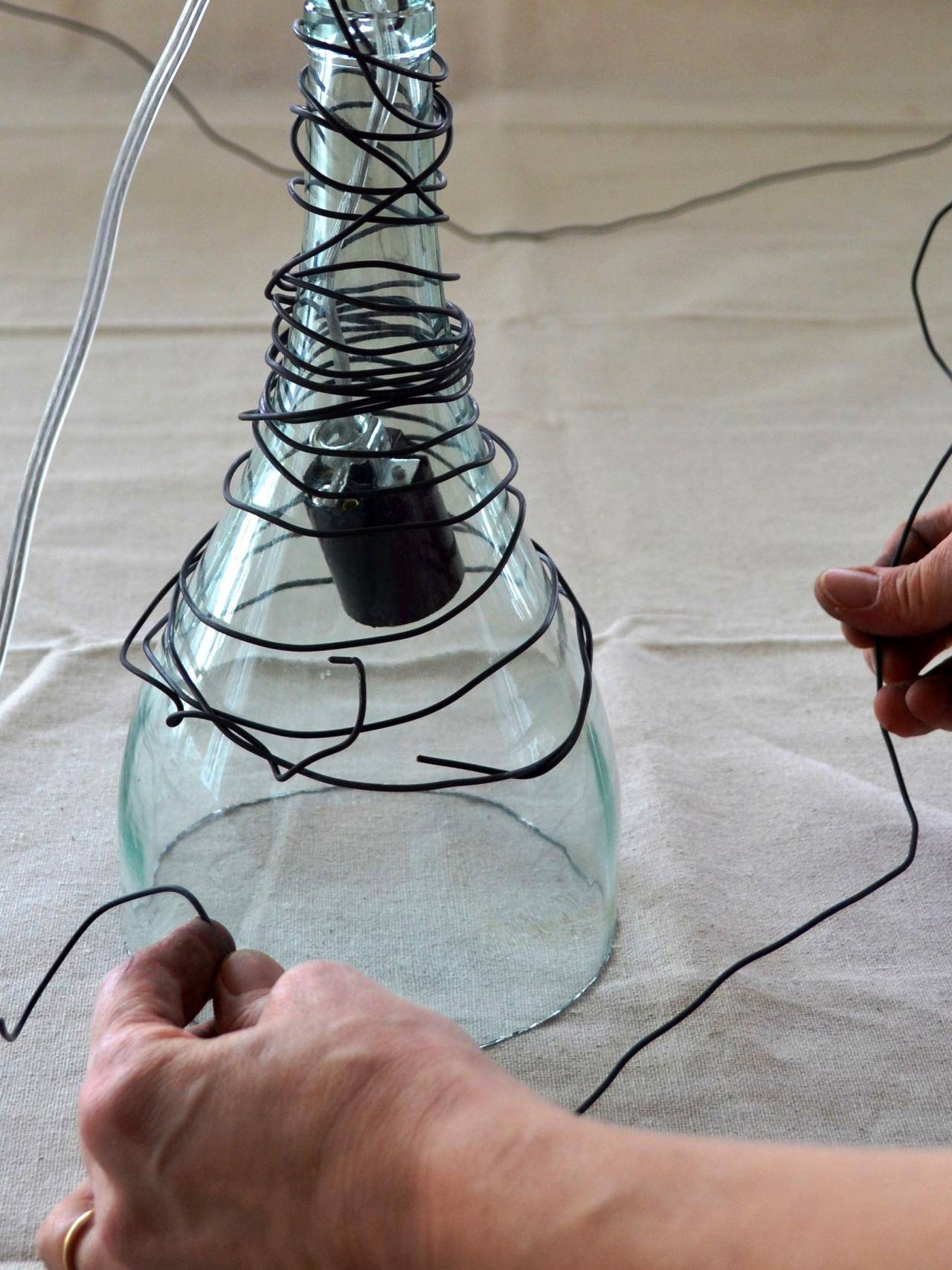 Upcycle Wine Bottle Into Pendant Light Fixtures | How-Tos | Diy inside Wine Bottle Pendants (Image 13 of 15)