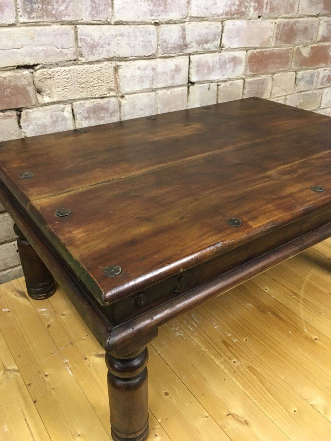 Used Heavy Jacobean Coffee Table In Dn3 Branton For £ (View 14 of 15)