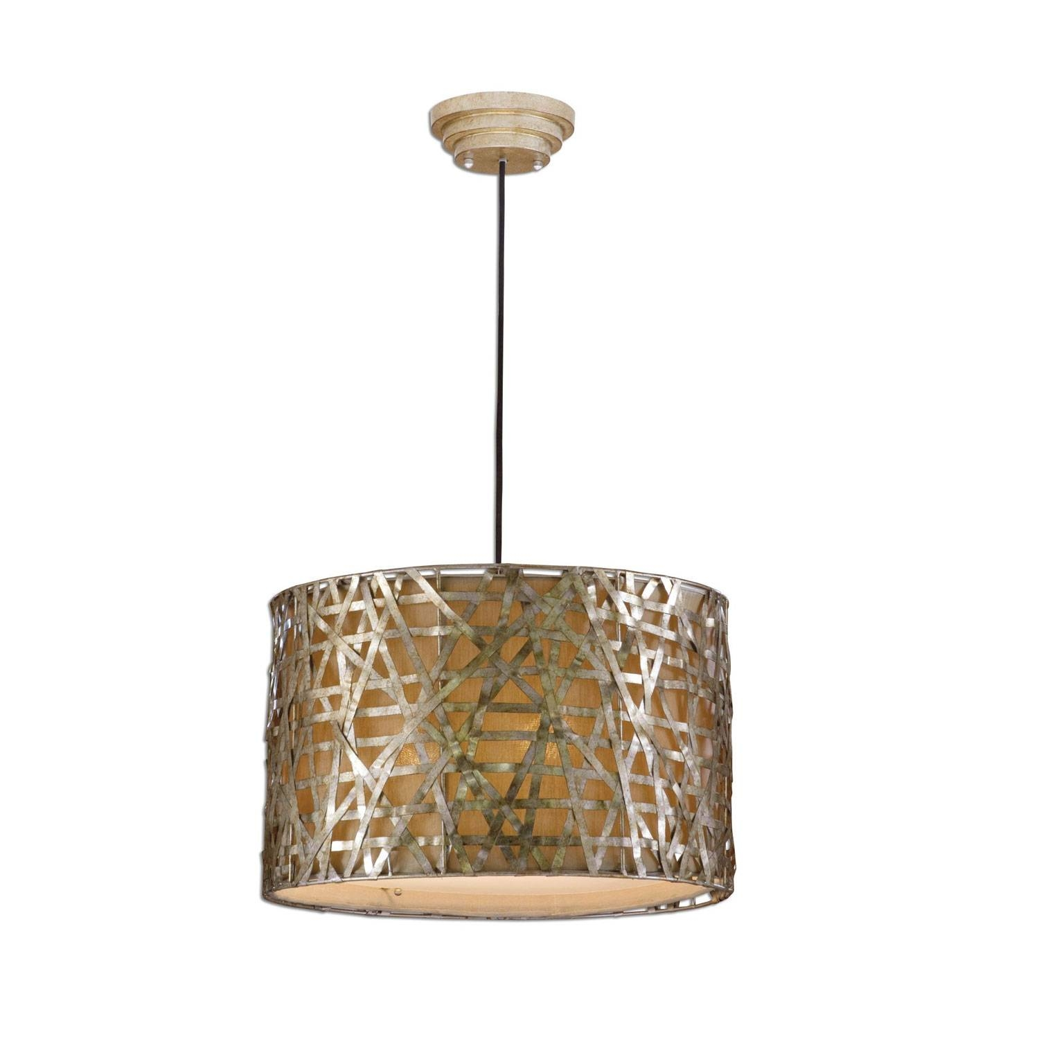 Uttermost Alita Drum Pendant On Sale pertaining to Uttermost Pendant Lights (Image 12 of 15)