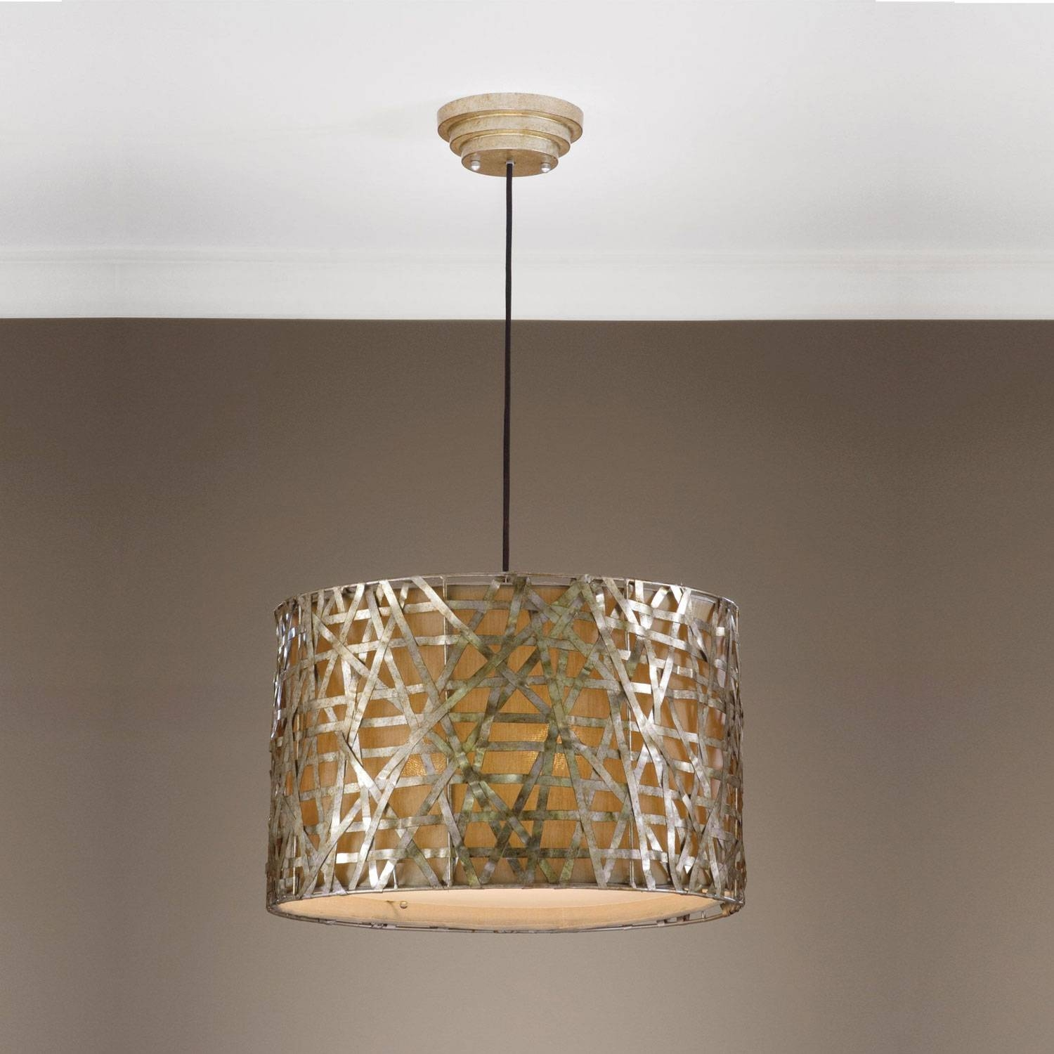 Uttermost Alita Drum Pendant On Sale regarding Uttermost Pendant Lights (Image 13 of 15)
