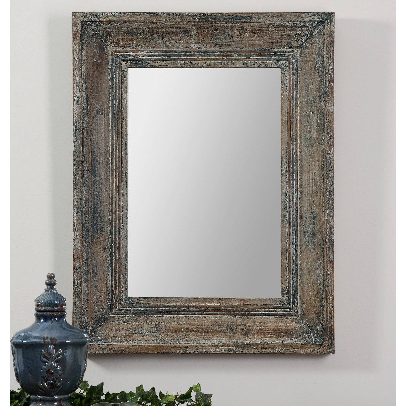 Uttermost Bozeman Mirror - 27.75W X 37.75H In. | Hayneedle for Blue Distressed Mirrors (Image 11 of 15)