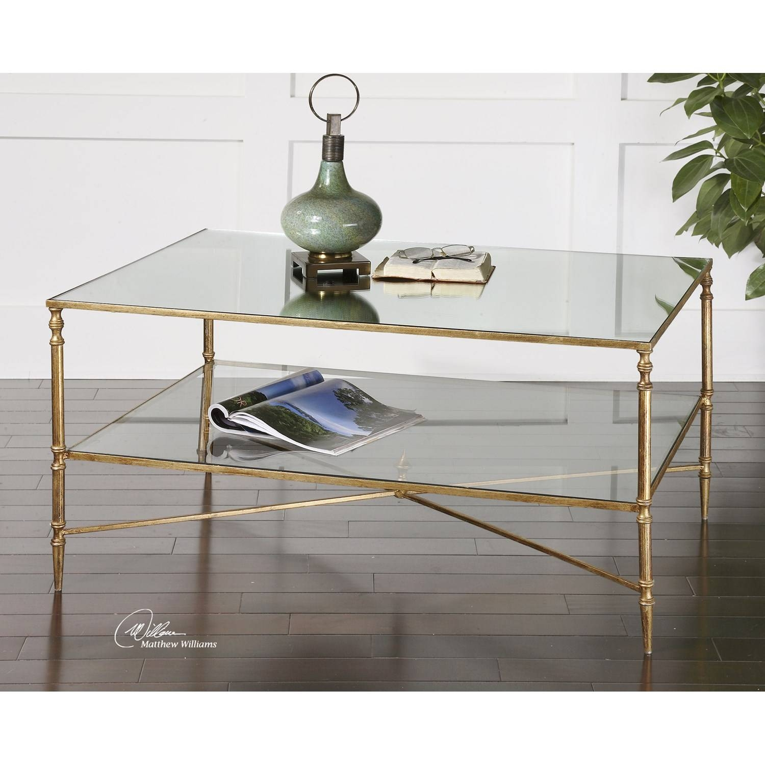 Uttermost Henzler Mirrored Glass Coffee Table - 24276 | The Simple with Mirror Glass Coffee Table (Image 14 of 15)