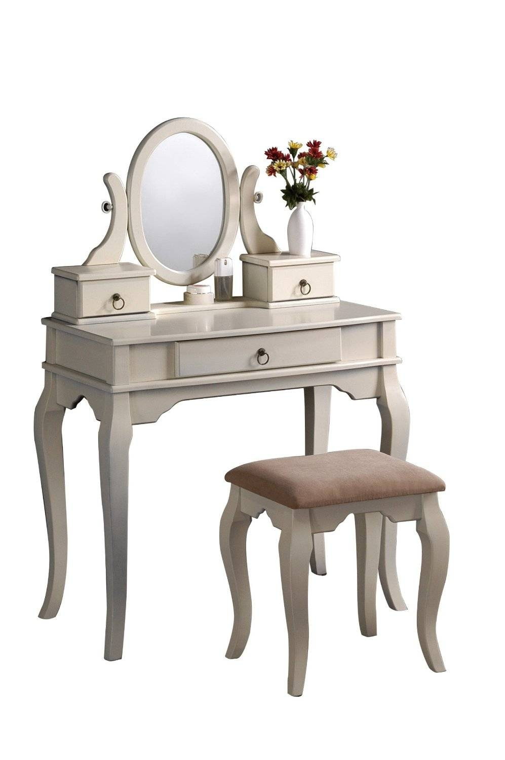 Vanity Tables With Oval Mirror intended for Antique White Oval Mirrors (Image 14 of 15)