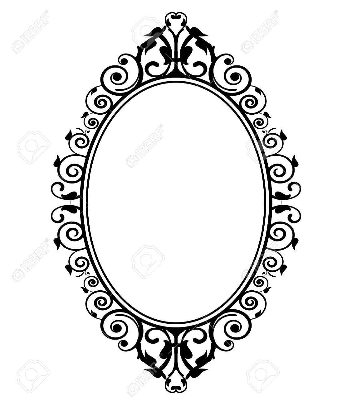 Vector Illustration Of Vintage Mirror Royalty Free Cliparts for Where To Buy Vintage Mirrors (Image 15 of 15)