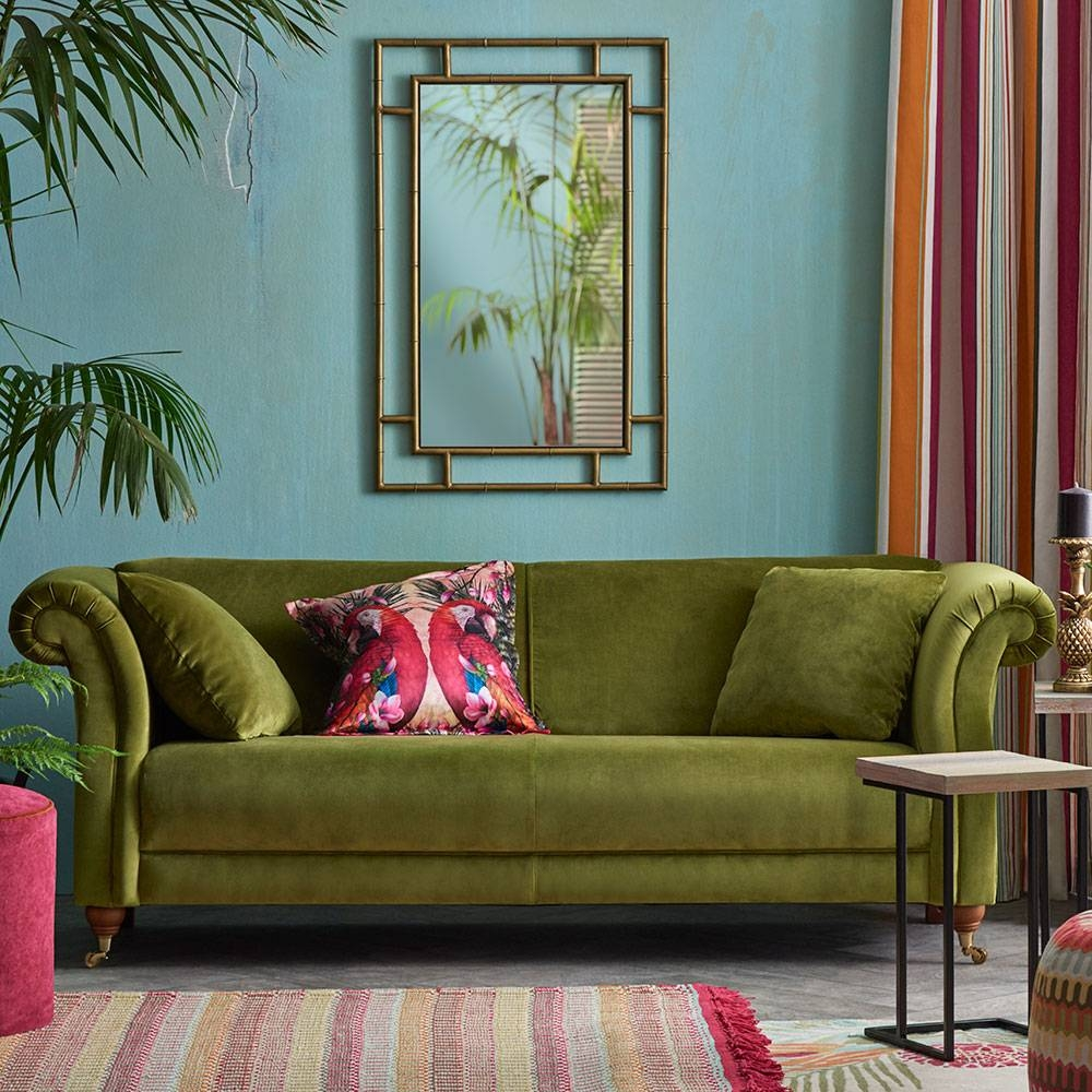 Velvet Sofas - Our Pick Of Best | Ideal Home within Chartreuse Sofas (Image 15 of 15)