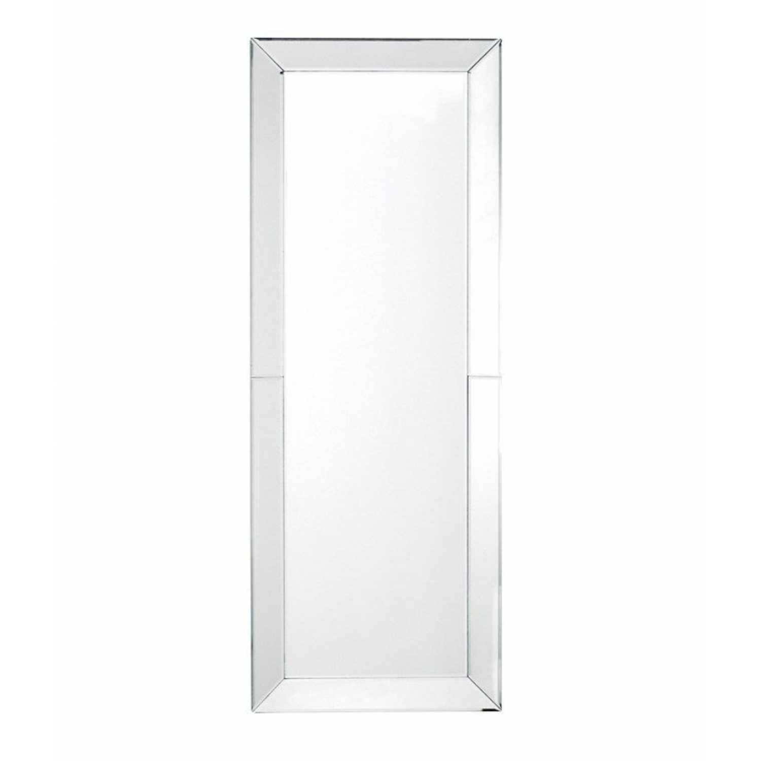 Venetian Glass Bevelled Edge Large Tall Slim Modern Plain Wall Mirror within Slim Wall Mirrors (Image 14 of 15)