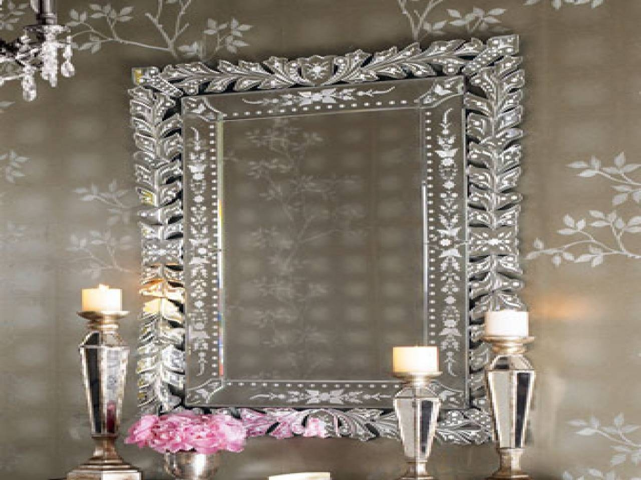 Venetian Mirror Bathroom ~ Dact throughout Large Venetian Wall Mirrors (Image 14 of 15)