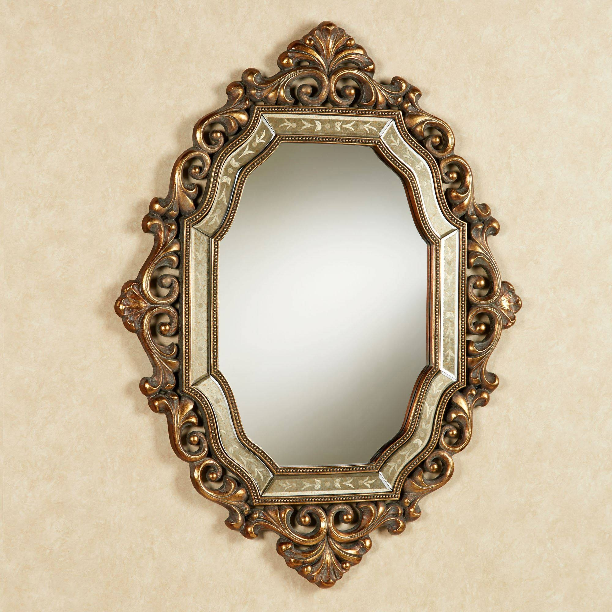 Verena Old World Wall Mirror intended for Gold Heart Mirrors (Image 14 of 15)
