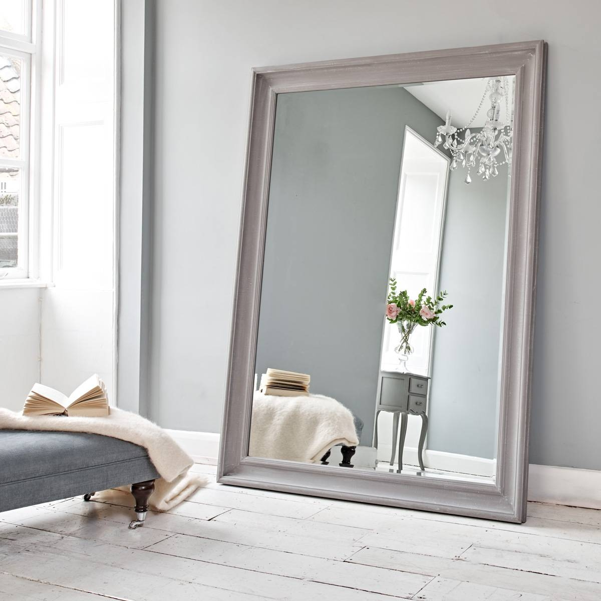 Vermont Oversized Mirror - Danish Grey | Brissi with regard to Oversized Mirrors (Image 14 of 15)
