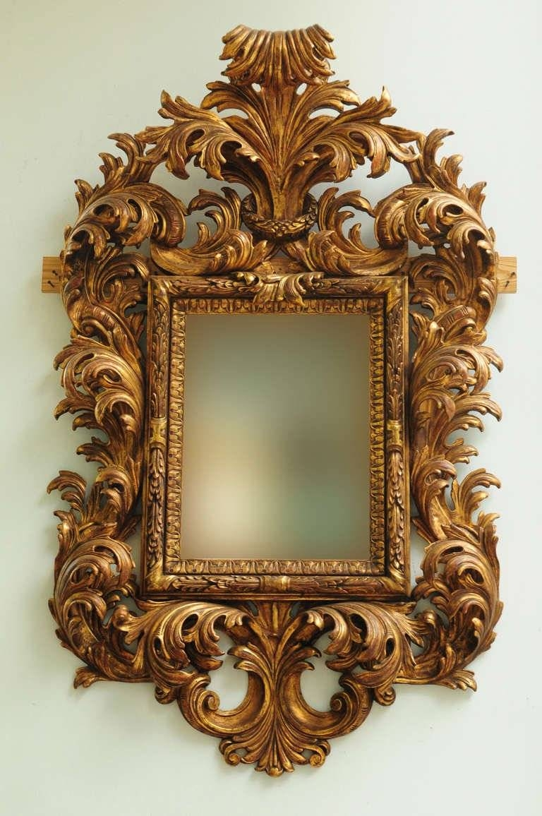 Very Fine Late 19Th Century Italian Rococo Style Carved Wood inside Rococo Style Mirrors (Image 12 of 15)