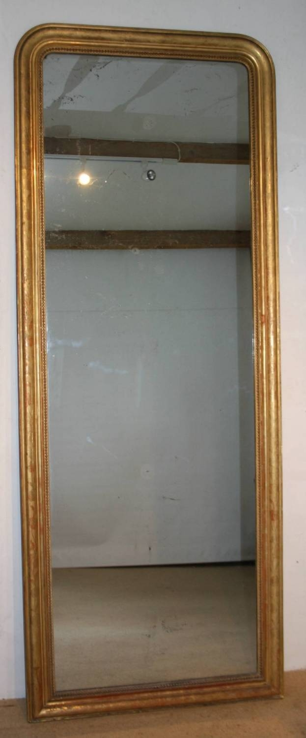 Very Tall And Narrow Antique Archtop Mirror for Tall Narrow Mirrors (Image 13 of 15)