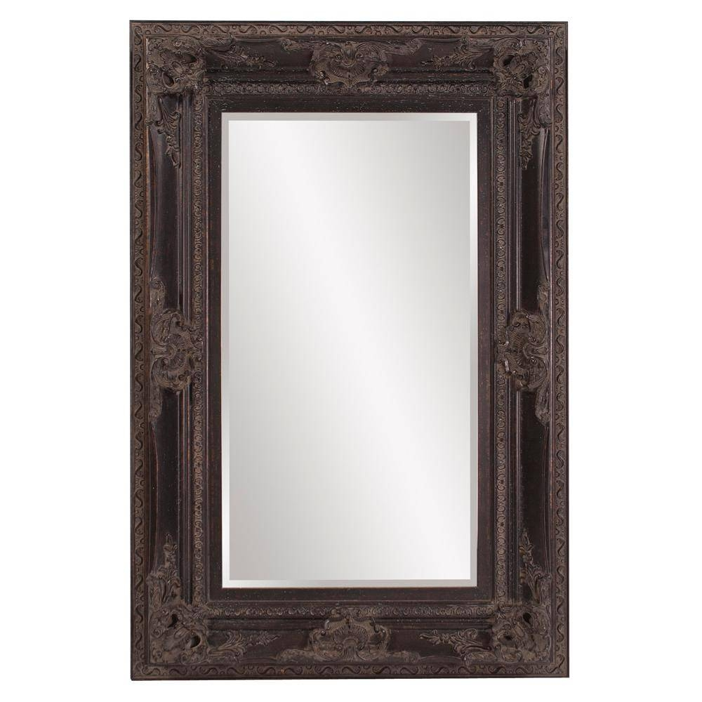 Victoria Antique Black Mirror-57002 - The Home Depot regarding Antique Black Mirrors (Image 13 of 15)