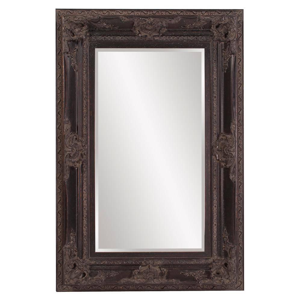 Victoria Antique Black Mirror 57002 – The Home Depot Regarding Antique Black Mirrors (View 11 of 15)