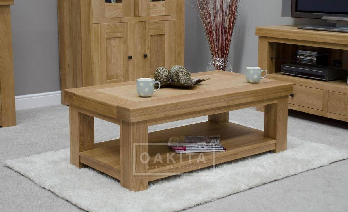 Vienna Light Oak Coffee Table - Sale in Light Oak Coffee Tables (Image 15 of 15)