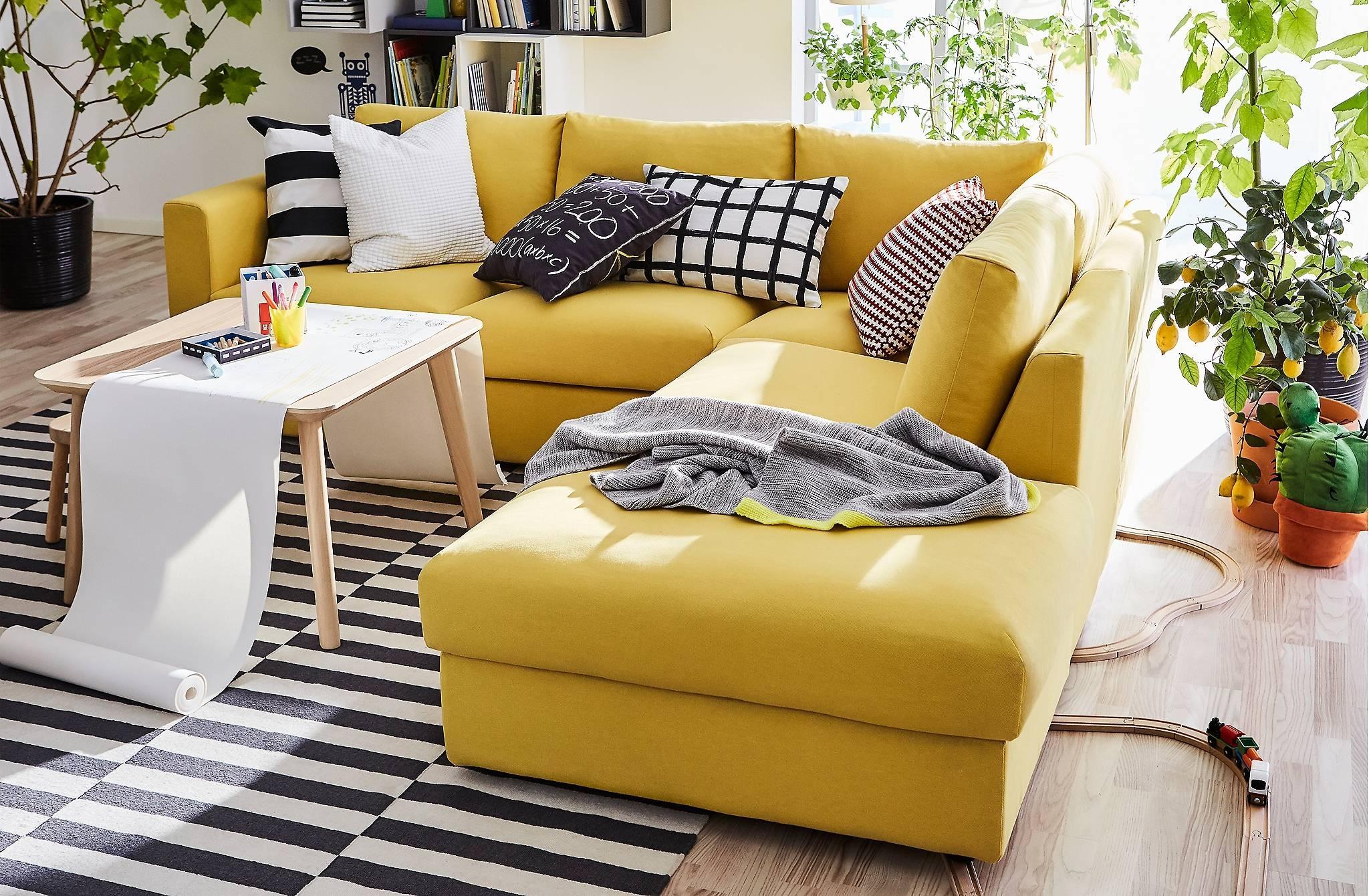 Vimle Regarding Yellow Sectional Sofas (View 14 of 15)