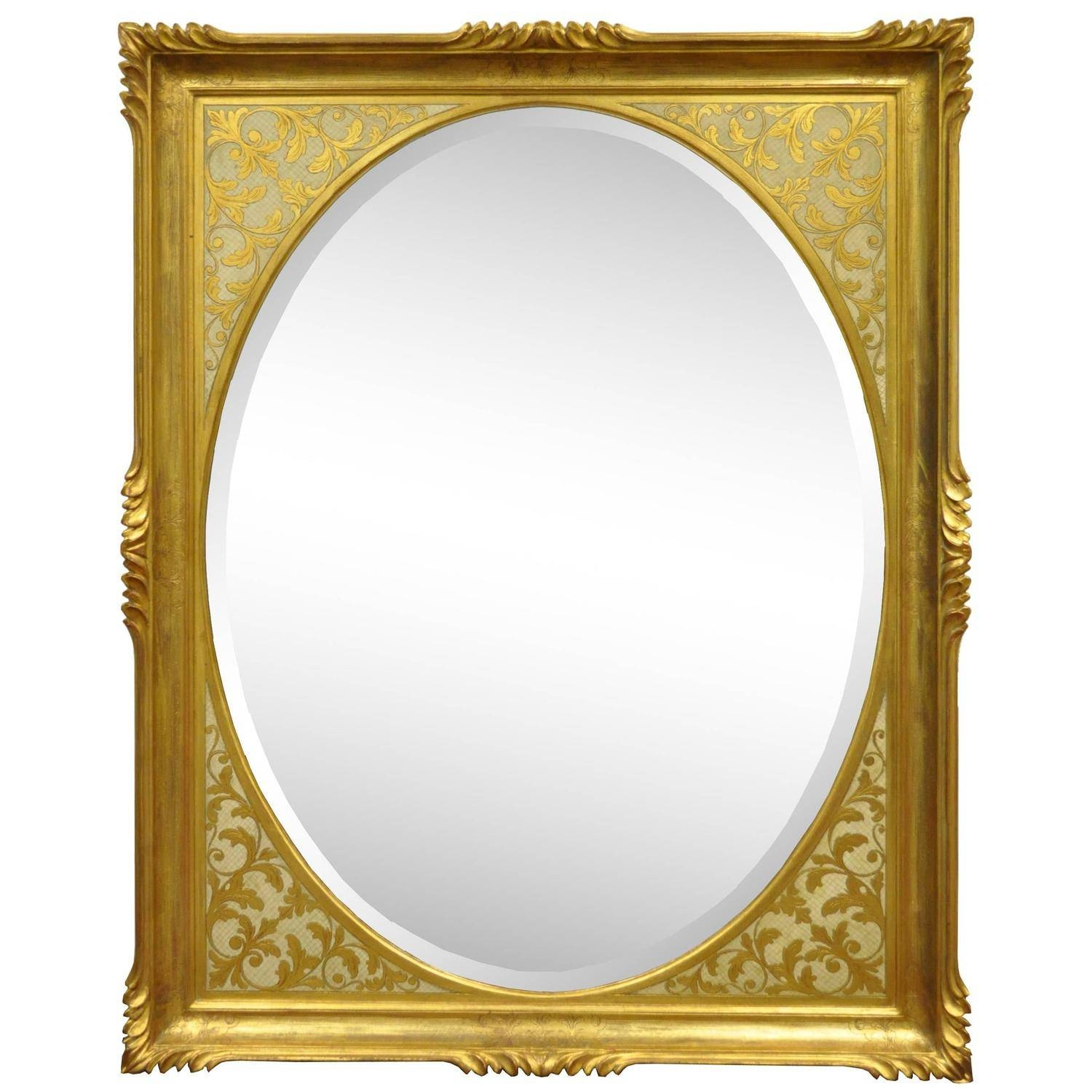 Vintage 1960S Italian Florentine Gold Gilt Carved Wood Wall Mirror regarding Gold Gilt Mirrors (Image 15 of 15)