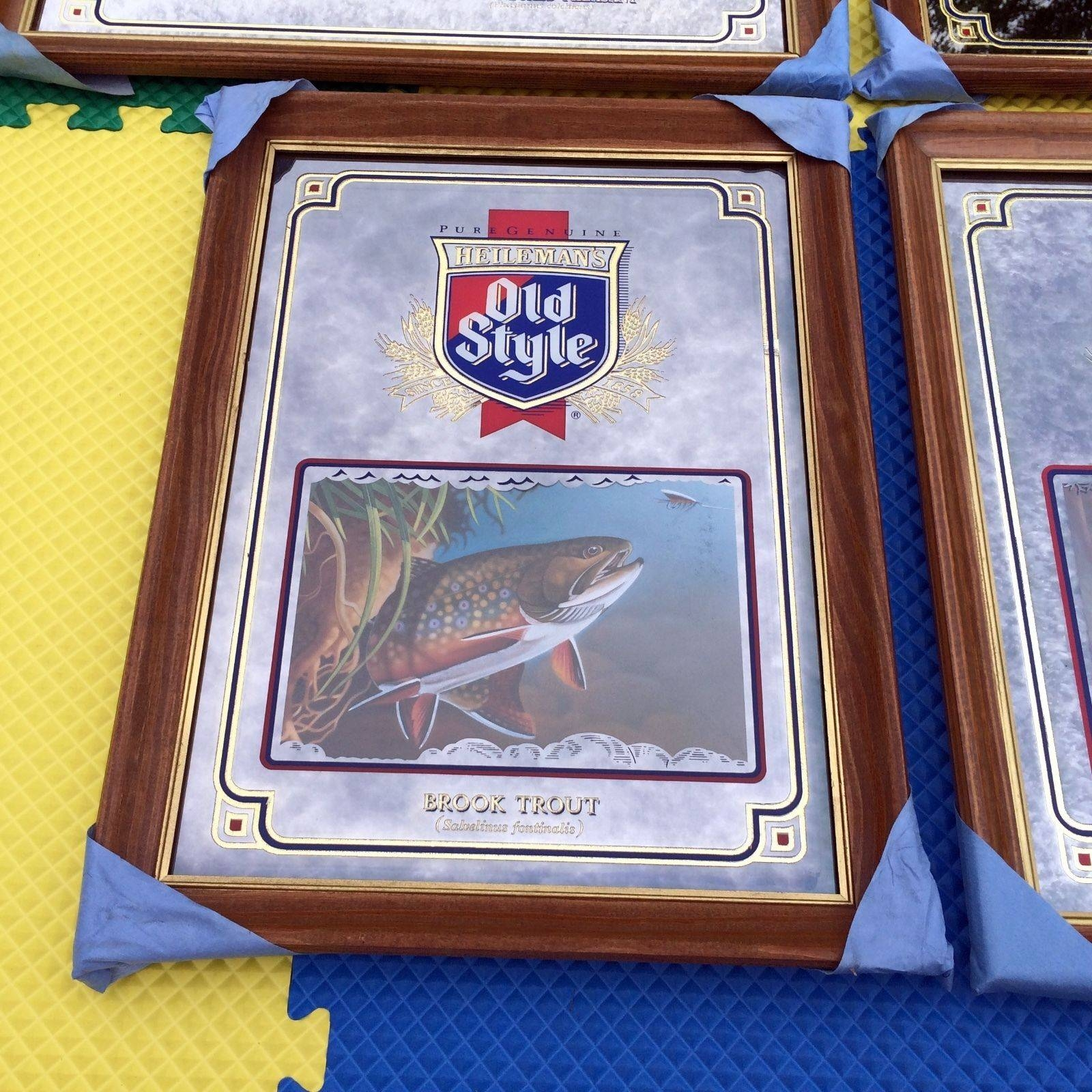 Vintage 90S Old Style Beer Wildlife Series Mirror Set Deer with regard to Old-Style Mirrors (Image 12 of 15)