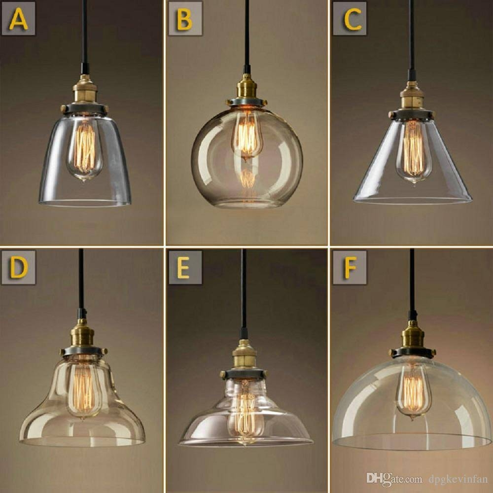 Vintage Chandelier Diy Led Glass Pendant Light Pendant Edison Lamp intended for Brown Glass Pendant Lights (Image 15 of 15)