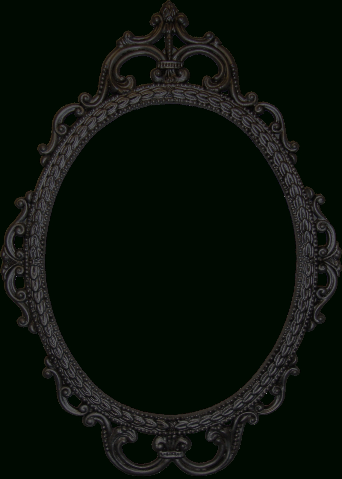 Vintage Clipart Mirror Frame - Pencil And In Color Vintage Clipart pertaining to Antique Black Mirrors (Image 14 of 15)