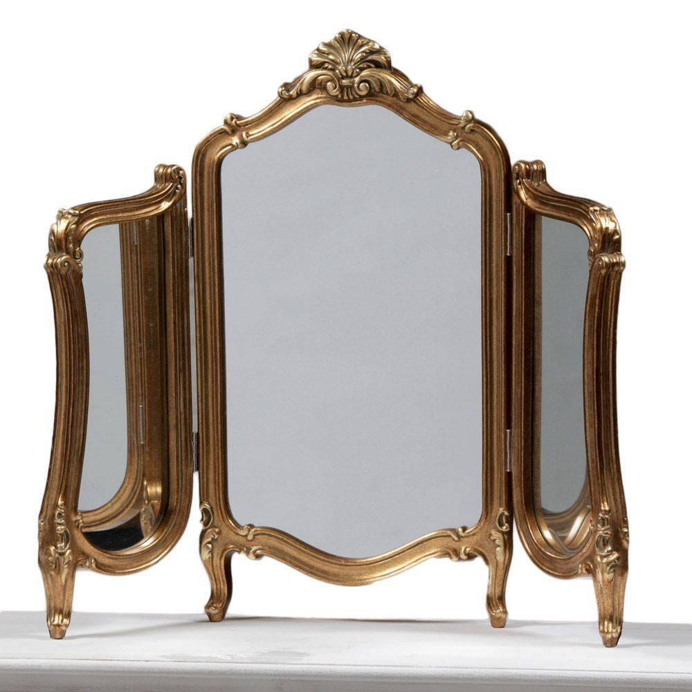 Popular Photo of Gold Dressing Table Mirrors
