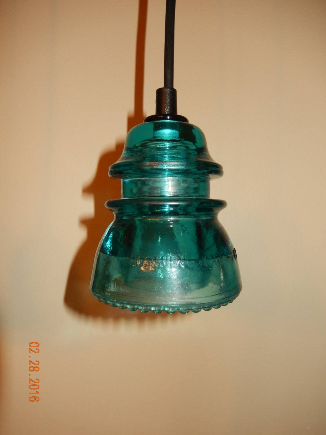Vintage Glass Insulator Pendant Lights in Insulator Pendant Lights (Image 15 of 15)