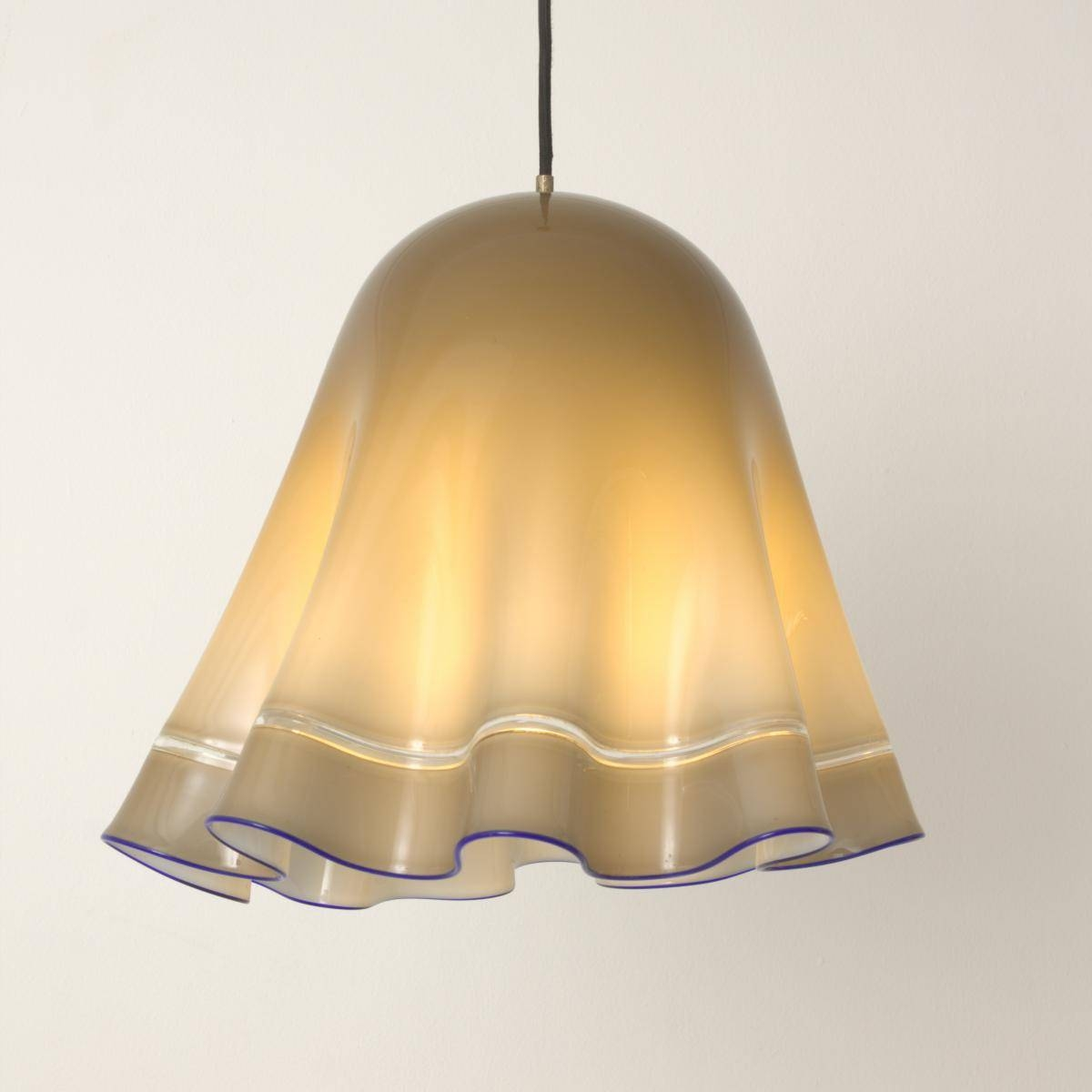 Vintage Grey & Blue Murano Glass Pendant Lamp For Sale At Pamono for Murano Pendant Lights (Image 14 of 15)