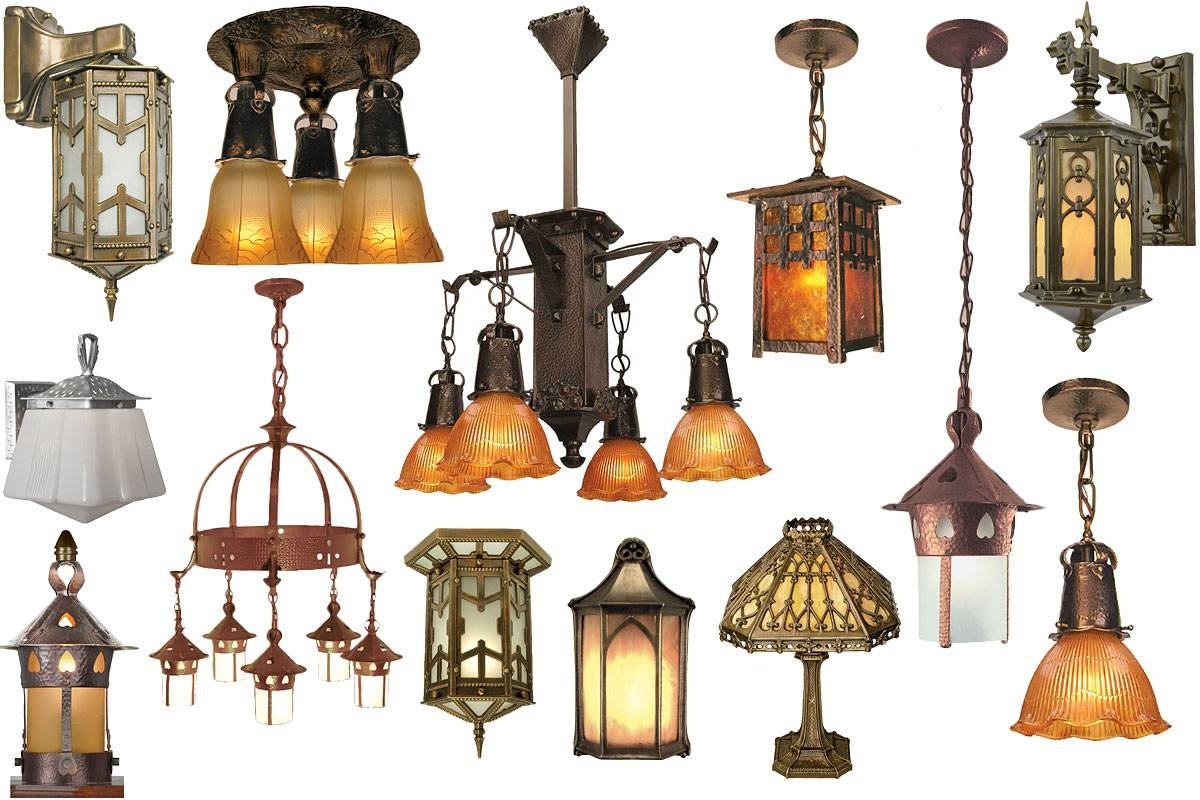 Vintage Hardware & Lighting - Arts & Crafts, Craftsman Light pertaining to Arts And Crafts Lights (Image 15 of 15)