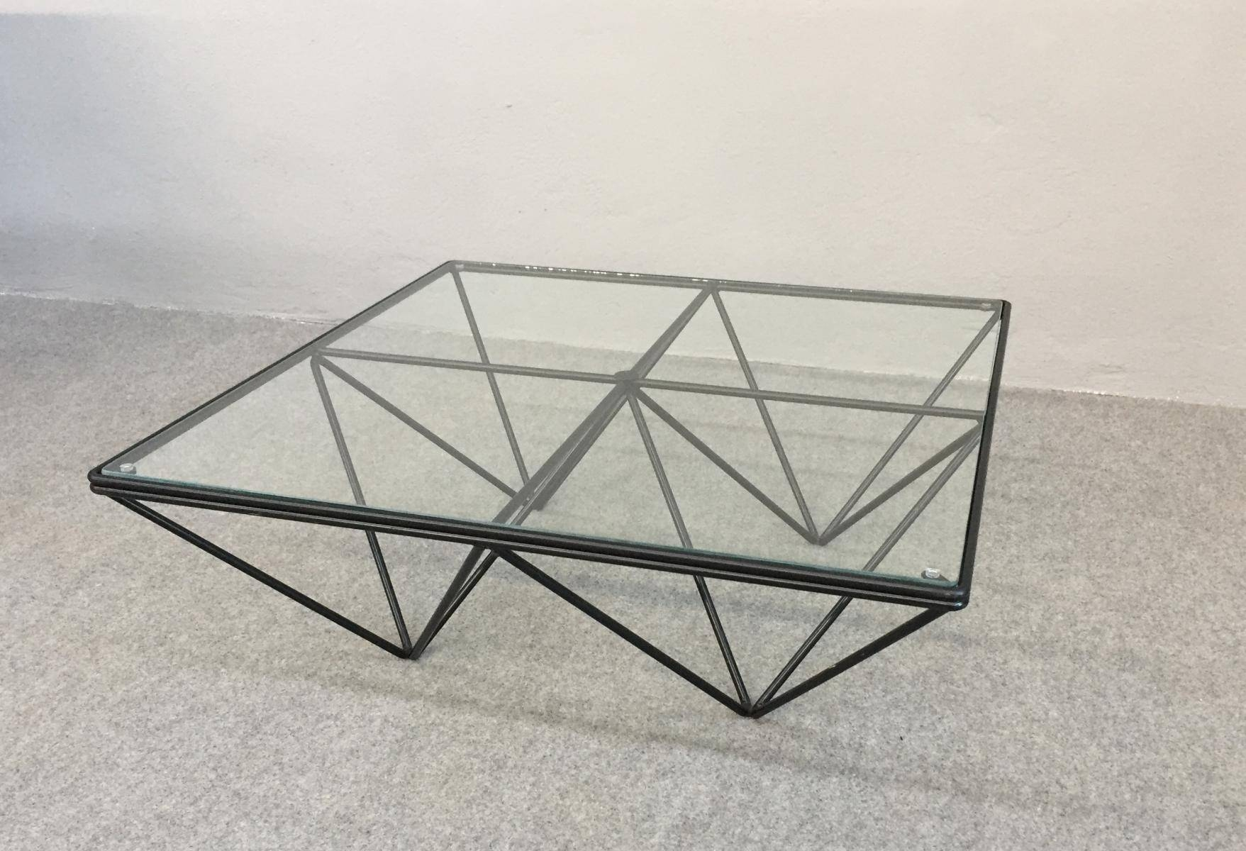 Vintage Iron & Glass Coffee Table, 1980S For Sale At Pamono within Iron Glass Coffee Table (Image 11 of 15)