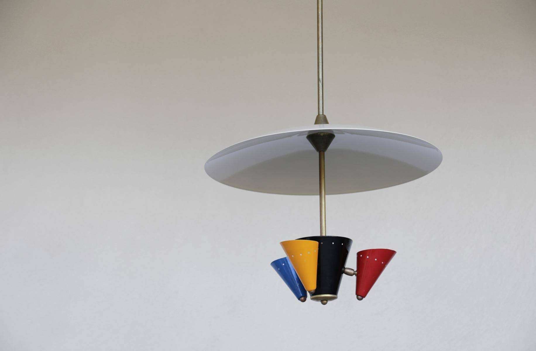 Vintage Italian Pendant Light, 1960S For Sale At Pamono regarding 1960S Pendant Lighting (Image 15 of 15)