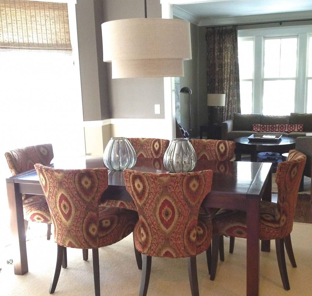 Vintage Tessa Sasha Style Dining Room Design With Orange Ogee with Crate And Barrel Shades (Image 11 of 15)