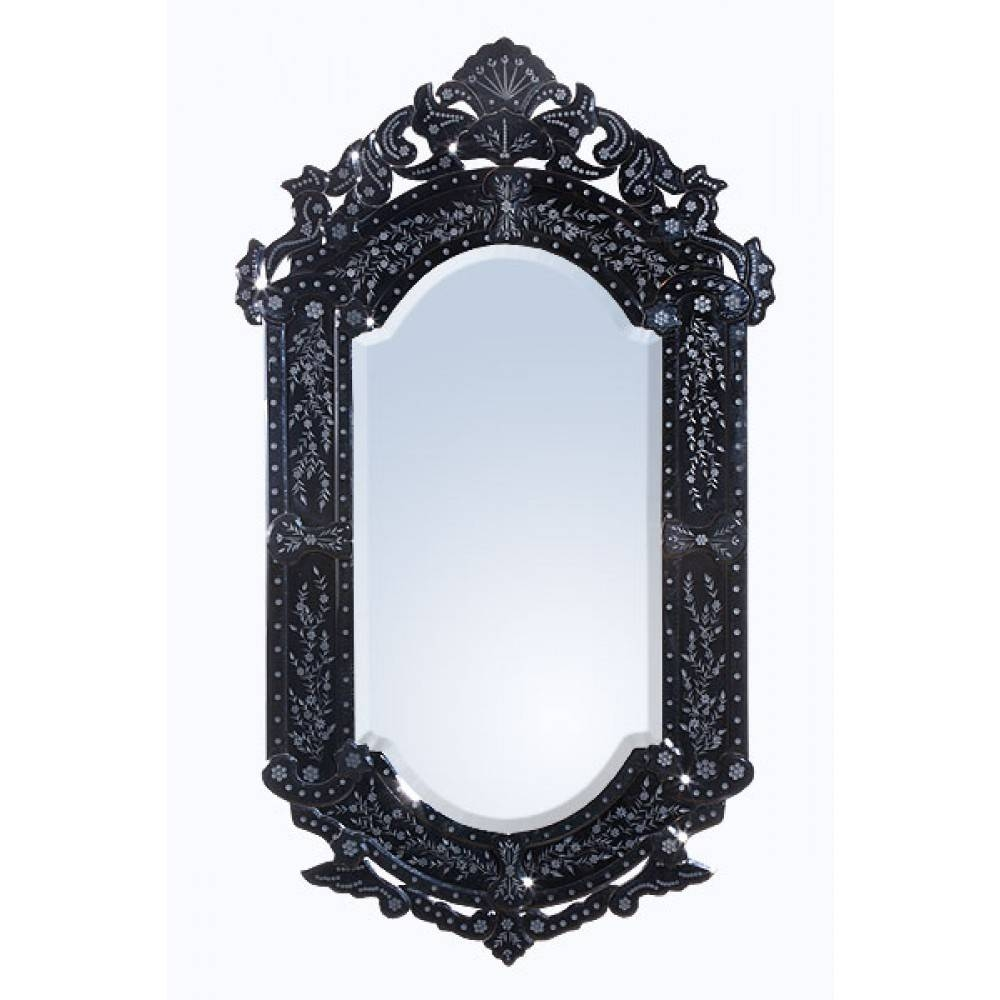 Gallery Of Antique Black Mirrors View 8 Of 15 Photos