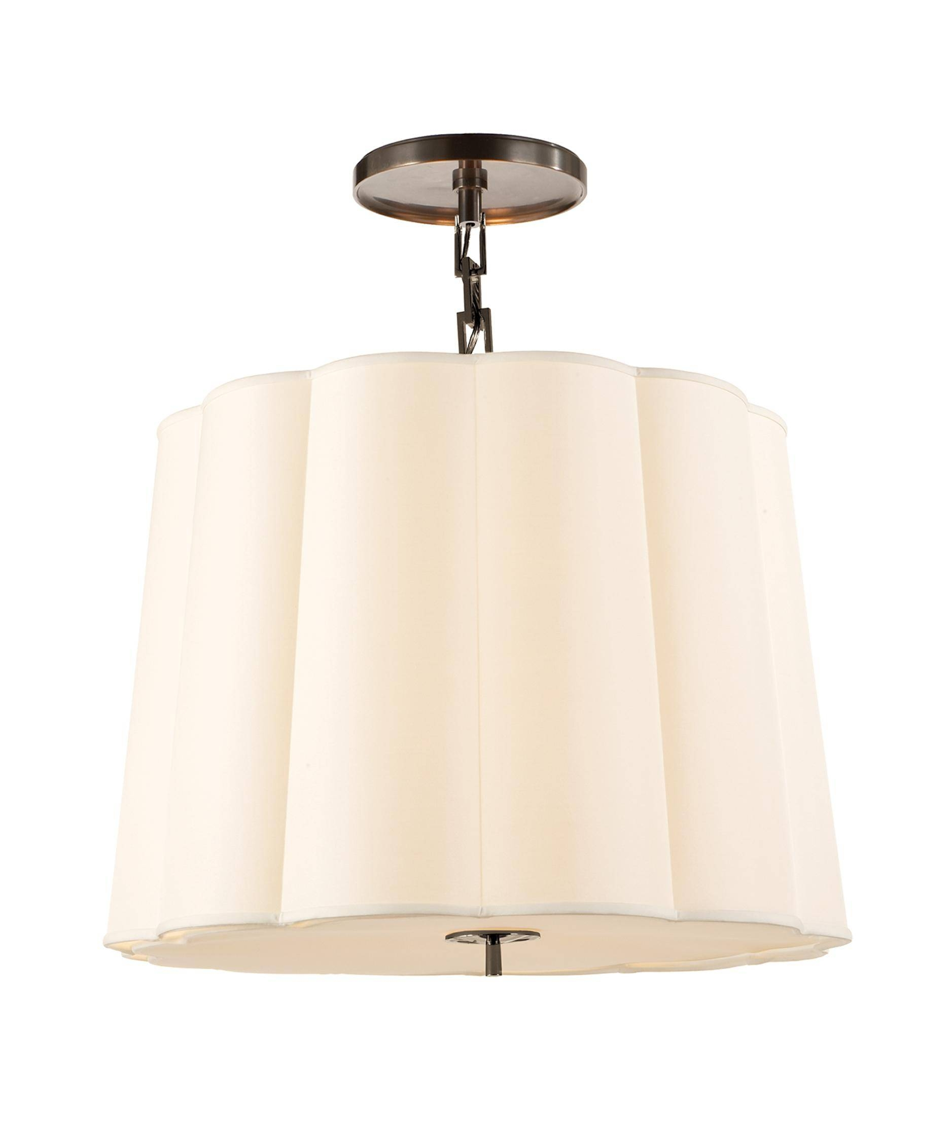 Visual Comfort Bbl5015 Barbara Barry Simple Scallop 25 Inch Wide 5 intended for Scalloped Pendant Lights (Image 14 of 15)