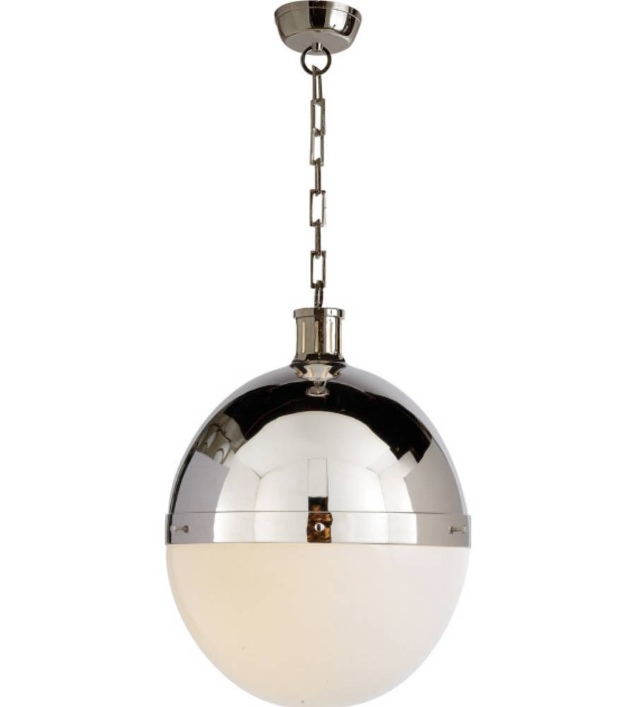 Visual Comfort Tob 5064Pn-Wg Thomas O'brien Modern Hicks Extra intended for Large Hicks Pendants (Image 15 of 15)