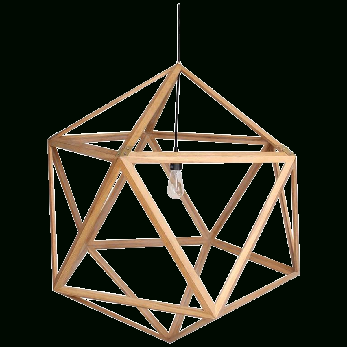 Viyet - Designer Furniture - Lighting - Modern Wood Dodecahedron for Dodecahedron Pendant Lights (Image 15 of 15)