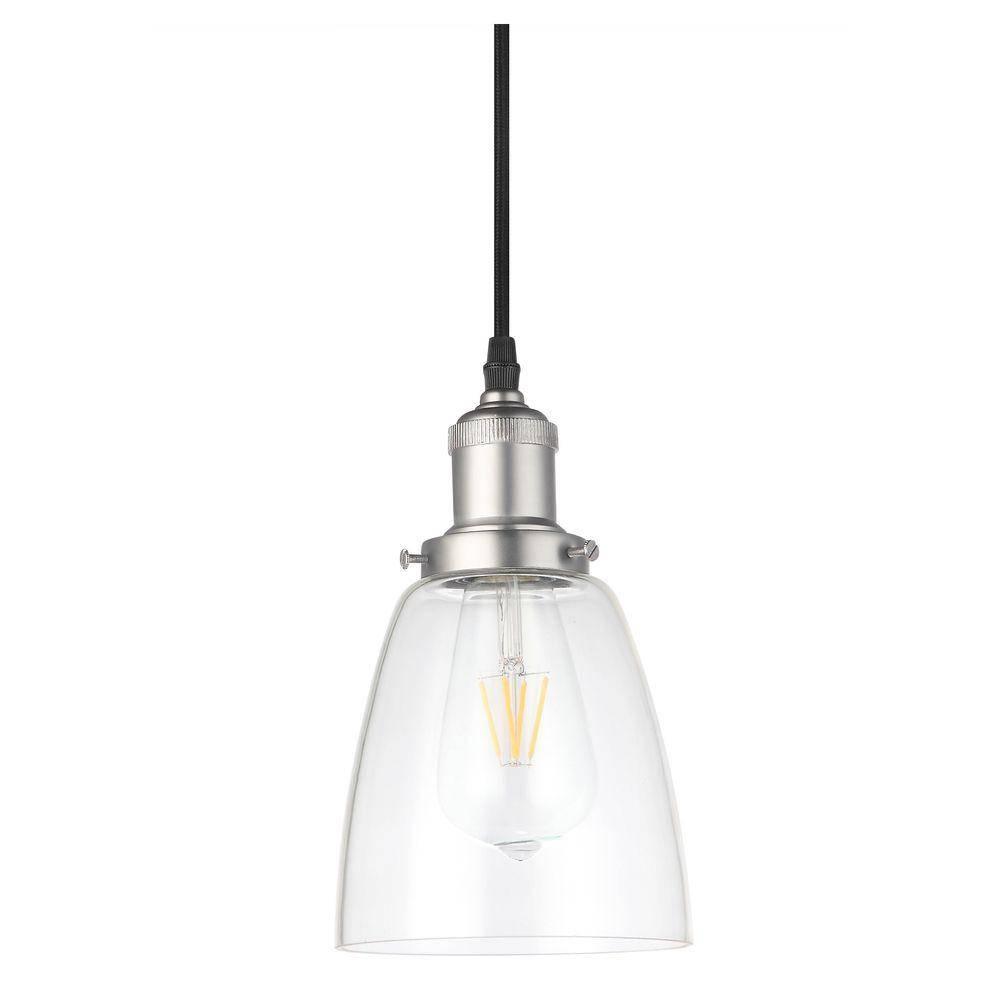 Vonn Lighting Delphinus 1-Light 5 In. Satin Nickel Led Adjustable within Led Pendant Lights (Image 15 of 15)